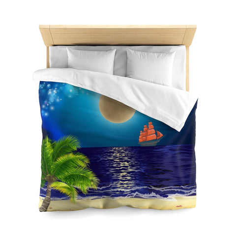 Blue Moon Microfiber Duvet Cover