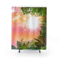 Fall In The Tropics Shower Curtains