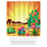 Cacti Landscape Shower Curtain