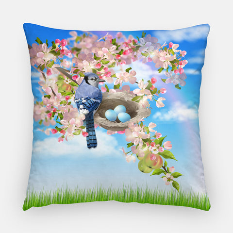 Blue Jay Outdoor Pillow
