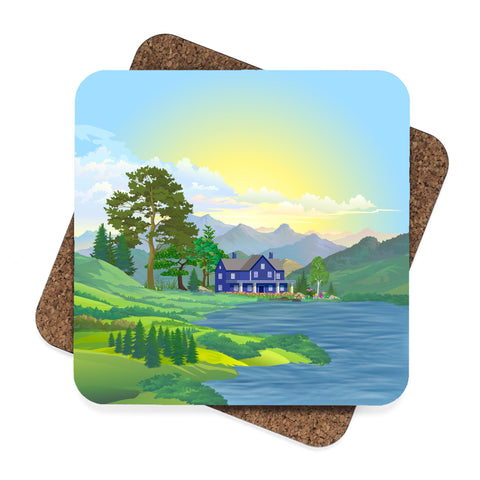 Cottage by the Water Coaster Set