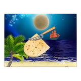 Blue Moon Glass Cutting Board
