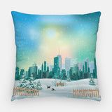 Winter in the City Out Door Pillow