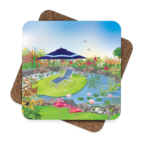 Flamingo Garden Coaster Set