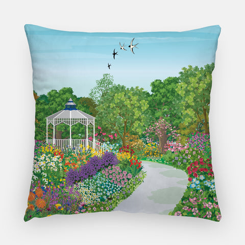 Garden Gazebo Outdoor Pillow