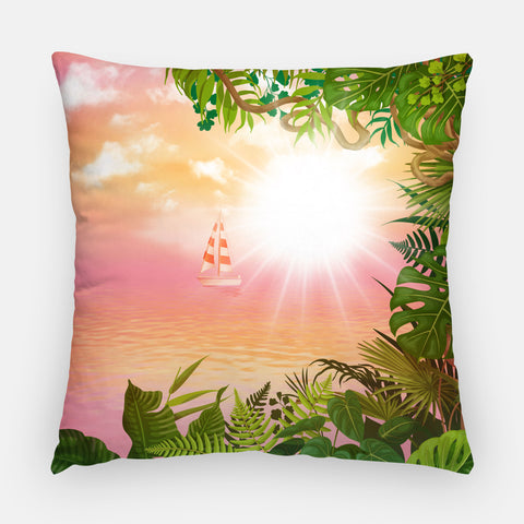 Monstera Outdoor Pillow