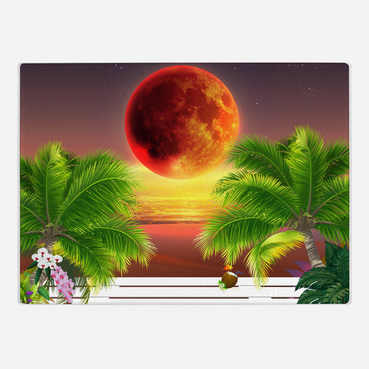 Red Moon Glass Cutting Board