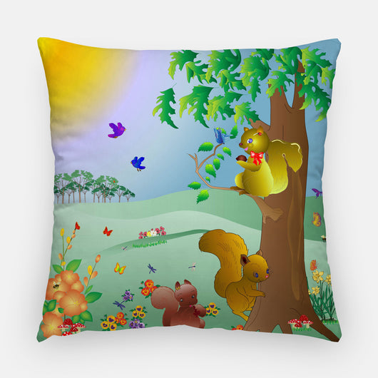 Squirrel Outdoor Pillow