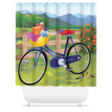 Let's Go Biking Shower Curtain