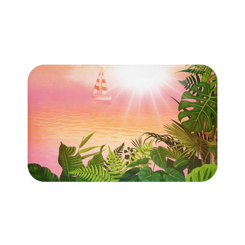 Fall In The Tropics Bath Mat