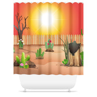 The Sun is Shining Shower Curtain