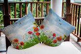 Birds in the Garden Outdoor Pillow