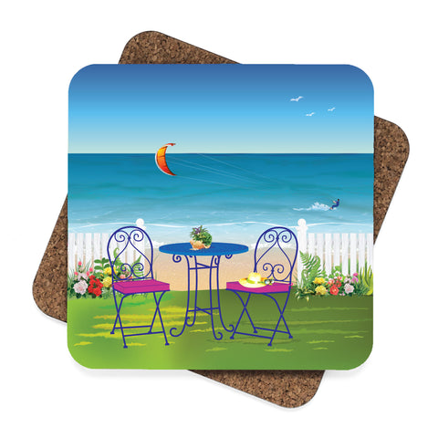 Kite Surfing at the Beach Coaster Set
