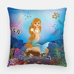 Call me Taylor Mermaid Outdoor Pillow