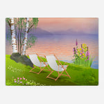 By The Lake Glass Cutting Board