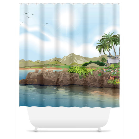 Rocking at the Beach Shower Curtain
