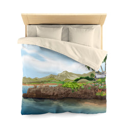Rocking at the Beach Microfiber Duvet Cover