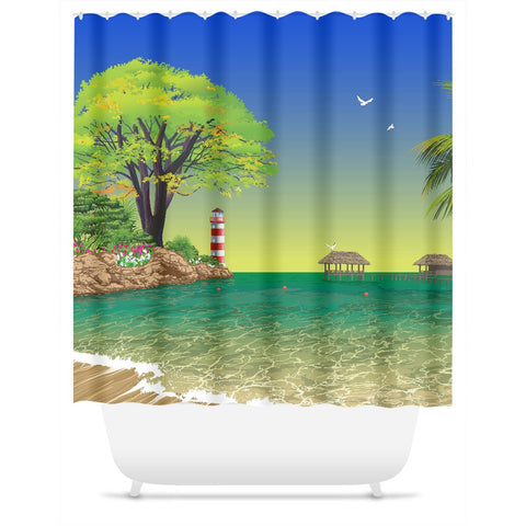Beach Inlet Shower Curtain