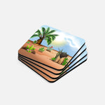 Palm Trees and Cactus Coaster Set