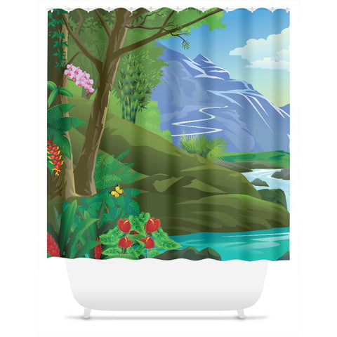 Blue Mountain Shower Curtain