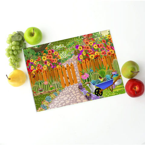 Perpetual Spring Glass Cutting Board