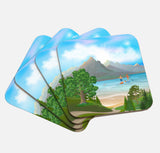 Paddle Boarding Couple Coaster Set