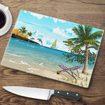 Dolphins Glass Cutting Board