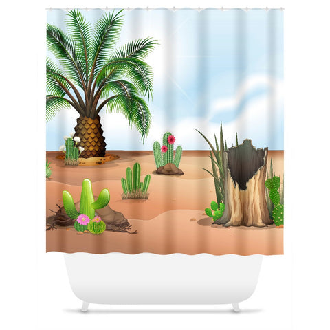 The Palm Shower Curtain
