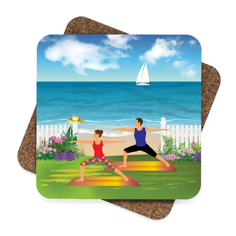 Yoga by the Beach Coaster Set