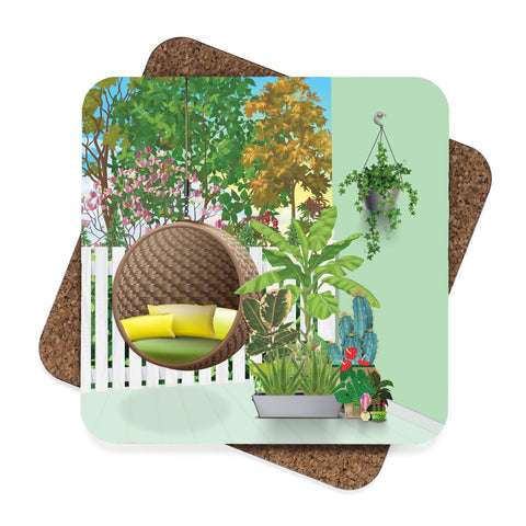 Porch Garden Coaster Set