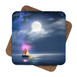 Golden Mermaid Coaster Set