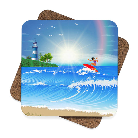 Surfer Girl Coaster Set