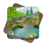 Koi Pond Garden Coaster Set