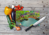 Koi Pond Glass Cutting Board