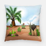 Cacti & Succulent Outdoor Pillow