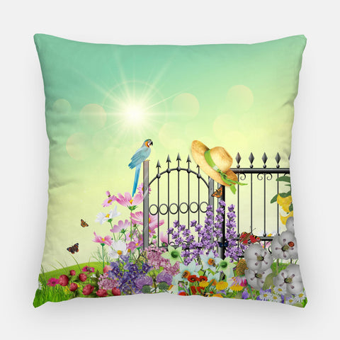 Lush Garden Outdoor Pillow