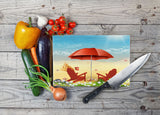 Path to the Beach Moments Glass Cutting Board