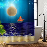 Supermoon Shower Curtain