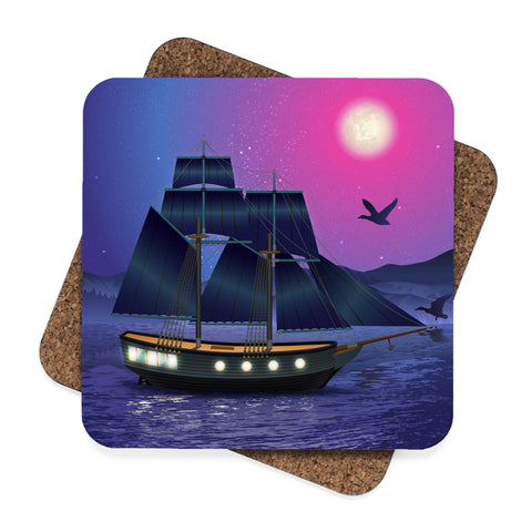 Sailing by Moonlight Coaster Set