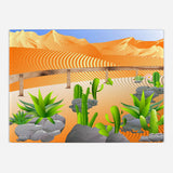 Cacti and Succulents Glass Cutting Board