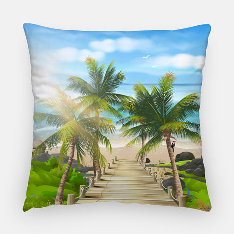 Path to the Beach Outdoor Pillow