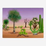 Cacti Landscape Glass Cutting Board