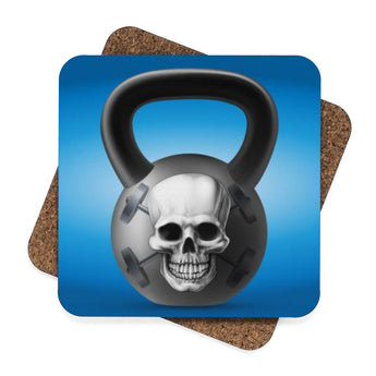 Skulls and Kettle-bells Coaster Set