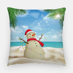 Sandman Tropical Outdoor Christmas Pillow
