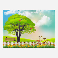 Spring Meadow Glass Cutting Board