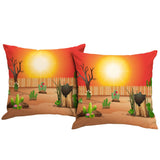 The Sun is Shining Outdoor Pillow