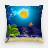 Winter Night Out Door Pillow