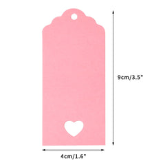 G2PLUS 100 PCS Gift Kraft Tags Luggage Tags 4 CM * 9 CM Labels with 30 Meters Jute Twine (Pink) - G2plus