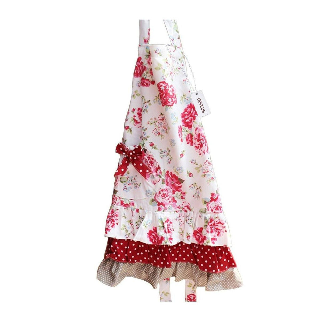 Lovely Classic Style Women's Cooking Baking Apron with Pockets Great Gift For Wife Ladies (Adult Women Aprons) - G2plus