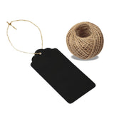 100 PCS Kraft Gift Tags 5 cm * 10 cm Blank Label Paper Wedding Labels Birthday Luggage Tags Brown Hang Tag with 30 Meters Jute Twine - G2plus